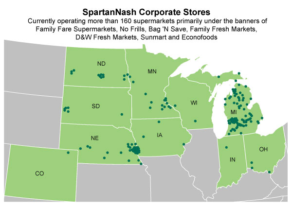 SpartanNash Locations - Corporate Owned Grocery Supermarkets