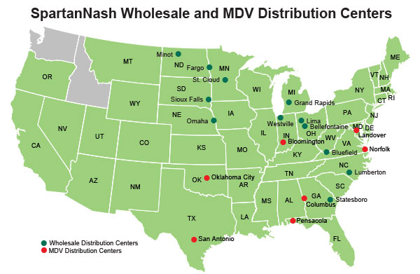 SpartanNsh Locations - Wholesale and Military Distribution Centers