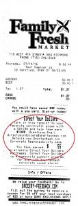 DYD receipt